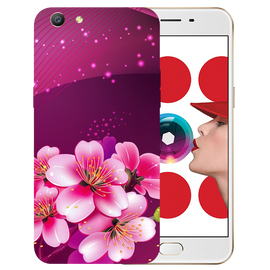 Shining Flowers Printed Case Cover For OPPO A57 by Mobiflip