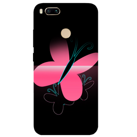 Pink Butterfly Printed Case Cover For Redmi MI A1 by Mobiflip