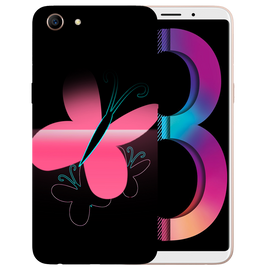 Pink Butterfly Printed Case Cover For OPPO A83 by Mobiflip