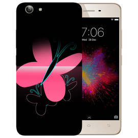 Pink Butterfly Printed Case Cover For VIVO Y53 by Mobiflip