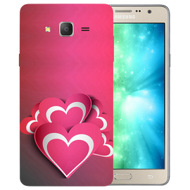 Pink White Hearts Printed Case Cover For Samsung J2 2016 by Mobiflip