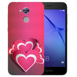 Pink White Hearts Printed Case Cover For HONOR Holly4 by Mobiflip
