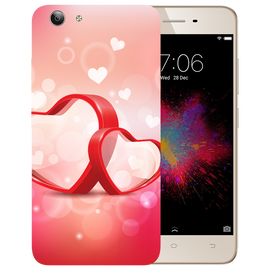 Red Hearts Printed Case Cover For VIVO Y53 by Mobiflip