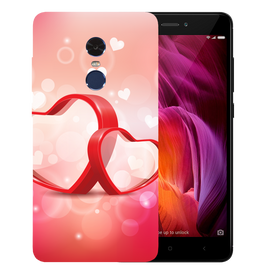 Red Hearts Printed Case Cover For Redmi Note 4 by Mobiflip