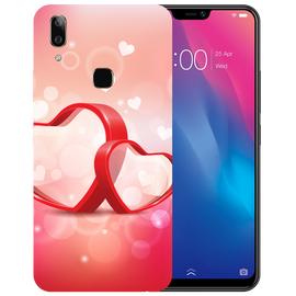 Red Hearts Printed Case Cover For VIVO V9 Youth by Mobiflip