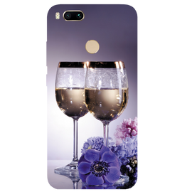 Wine Glass Printed Case Cover For Redmi MI A1 by Mobiflip