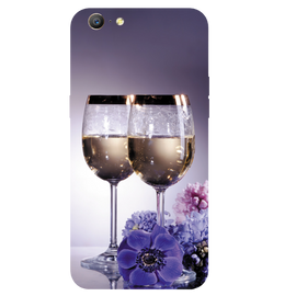 Wine Glass Printed Case Cover For OPPO A57 by Mobiflip