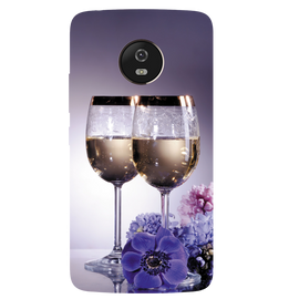 Wine Glass Printed Case Cover For Motorola G5 by Mobiflip