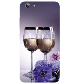 Wine Glass Printed Case Cover For VIVO Y53 by Mobiflip