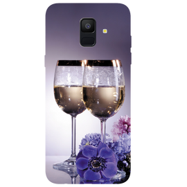 Wine Glass Printed Case Cover For Samsung A6 by Mobiflip