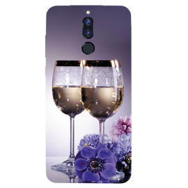 Wine Glass Printed Case Cover For HONOR P9I by Mobiflip