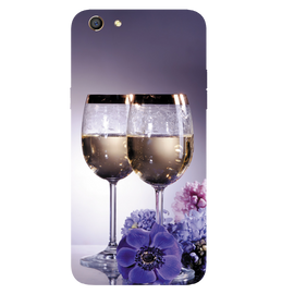 Wine Glass Printed Case Cover For OPPO F3 by Mobiflip