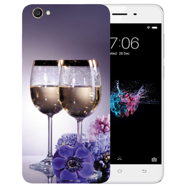 Wine Glass Printed Case Cover For VIVO Y55 by Mobiflip