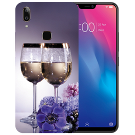 Wine Glass Printed Case Cover For VIVO V9 Youth by Mobiflip