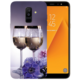 Wine Glass Printed Case Cover For Samsung A6 Plus by Mobiflip