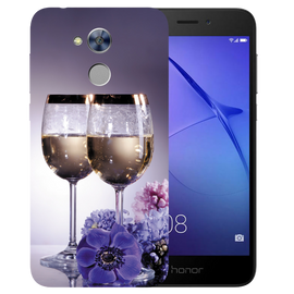 Wine Glass Printed Case Cover For HONOR Holly4 by Mobiflip