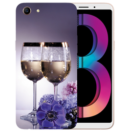 Wine Glass Printed Case Cover For OPPO A83 by Mobiflip