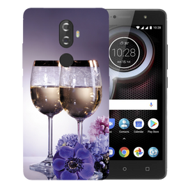 Wine Glass Printed Case Cover For Lenovo K8 Plus by Mobiflip