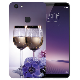 Wine Glass Printed Case Cover For VIVO V7 Plus by Mobiflip