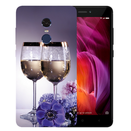 Wine Glass Printed Case Cover For Redmi Note 4 by Mobiflip