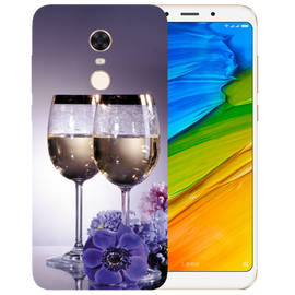 Wine Glass Printed Case Cover For Redmi 5 Plus by Mobiflip