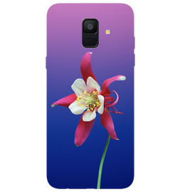 Flowers Printed Case Cover For Samsung A6 by Mobiflip
