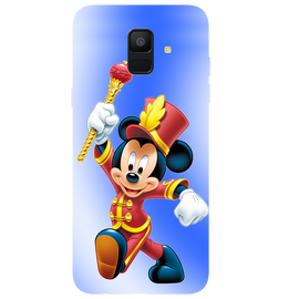 Mickey Mouse Printed Case Cover For Samsung A6 by Mobiflip