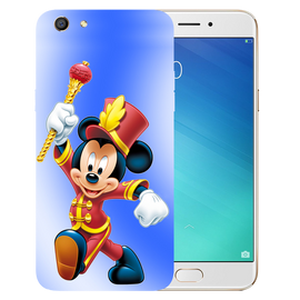 Mickey Mouse Printed Case Cover For OPPO F3 by Mobiflip