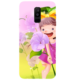 Pink Doll Printed Case Cover For Samsung A6 Plus by Mobiflip