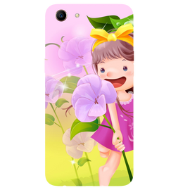 Pink Doll Printed Case Cover For OPPO A83 by Mobiflip