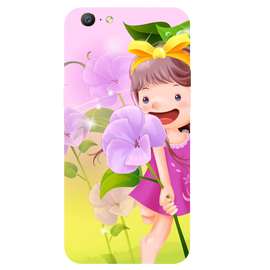 Pink Doll Printed Case Cover For OPPO A57 by Mobiflip