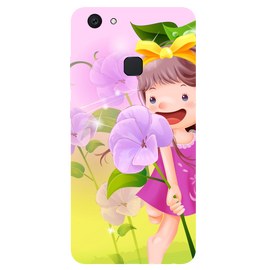 Pink Doll Printed Case Cover For VIVO V7 Plus by Mobiflip