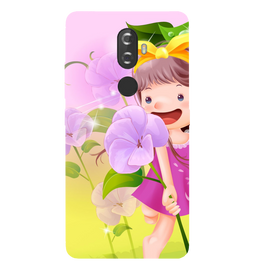 Pink Doll Printed Case Cover For Lenovo K8 Plus by Mobiflip