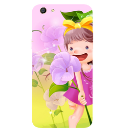 Pink Doll Printed Case Cover For OPPO F3 by Mobiflip