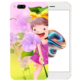Pink Doll Printed Case Cover For Redmi MI A1 by Mobiflip