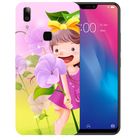 Pink Doll Printed Case Cover For VIVO V9 Youth by Mobiflip