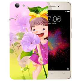 Pink Doll Printed Case Cover For VIVO Y53 by Mobiflip