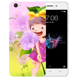 Pink Doll Printed Case Cover For VIVO Y55 by Mobiflip