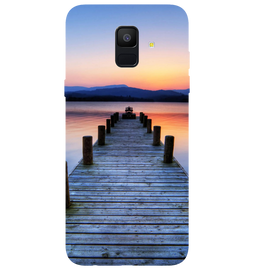Wooden Bridge Printed Case Cover For Samsung A6 by Mobiflip