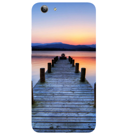 Wooden Bridge Printed Case Cover For VIVO Y53 by Mobiflip