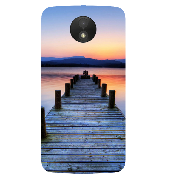 Wooden Bridge Printed Case Cover For Motorola C Plus by Mobiflip