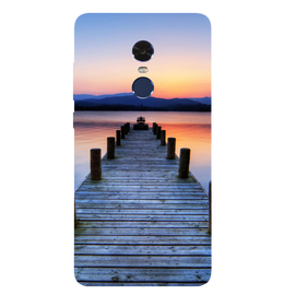 Wooden Bridge Printed Case Cover For Redmi Note 4 by Mobiflip