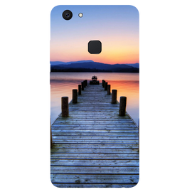 Wooden Bridge Printed Case Cover For VIVO V7 Plus by Mobiflip