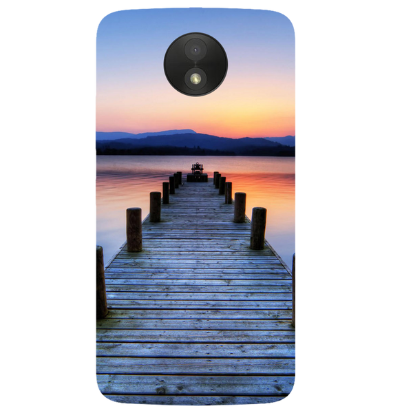 Wooden Bridge Printed Case Cover For Motorola C by Mobiflip