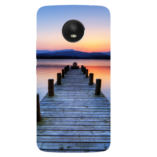 Wooden Bridge Printed Case Cover For Motorola E4 by Mobiflip