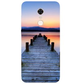 Wooden Bridge Printed Case Cover For Redmi 5 Plus by Mobiflip