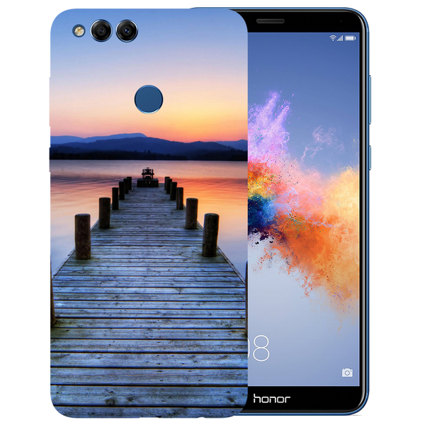 Wooden Bridge Printed Case Cover For HONOR 7X by Mobiflip