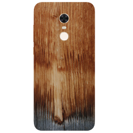 Wooden Art Printed Case Cover For Redmi 5 Plus by Mobiflip