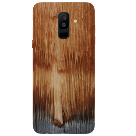 Wooden Art Printed Case Cover For Samsung A6 Plus by Mobiflip