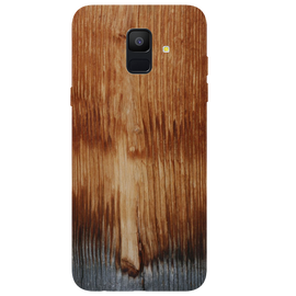 Wooden Art Printed Case Cover For Samsung A6 by Mobiflip